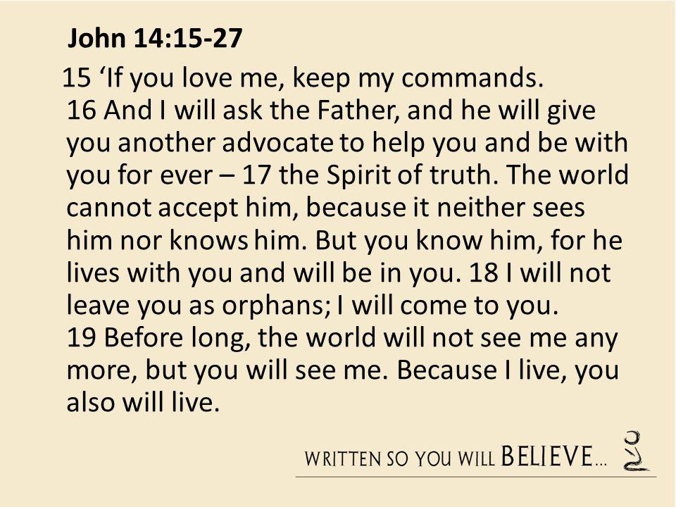 John 14:15-27