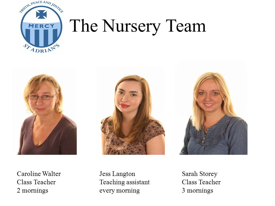 The Nursery Team Caroline Walter Jess Langton Sarah Storey