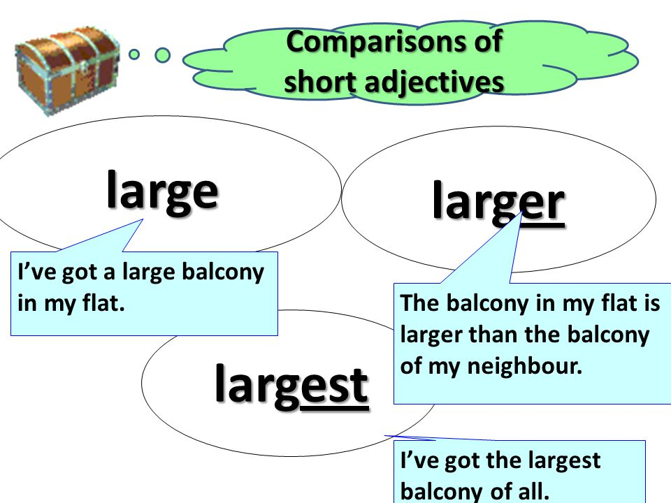 Comparisons of short adjectives