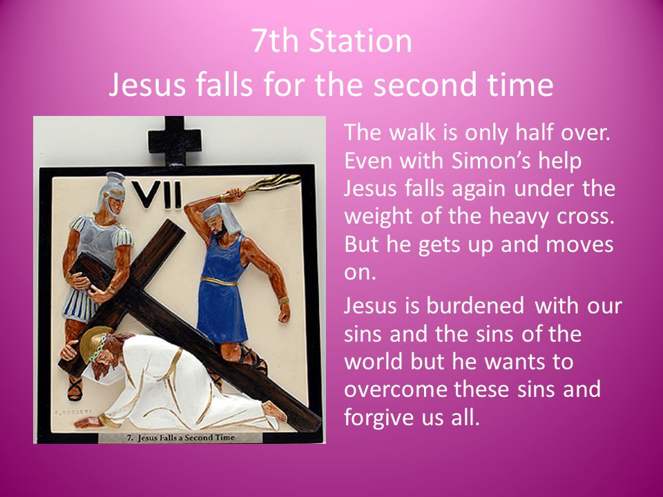7th Station Jesus falls for the second time