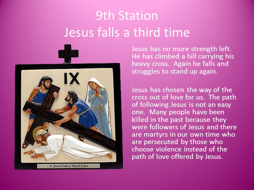 9th Station Jesus falls a third time