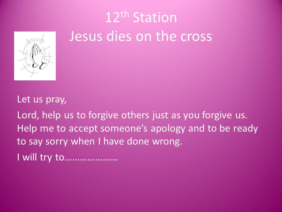 12th Station Jesus dies on the cross