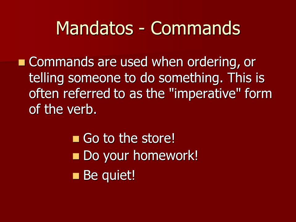 Mandatos - Commands