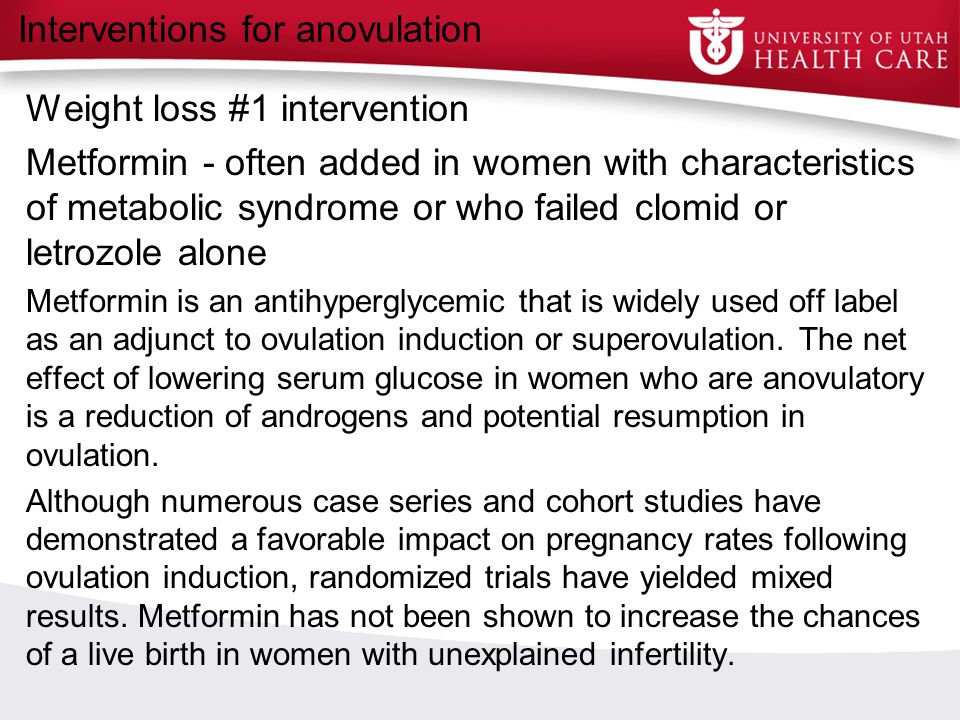 Interventions for anovulation