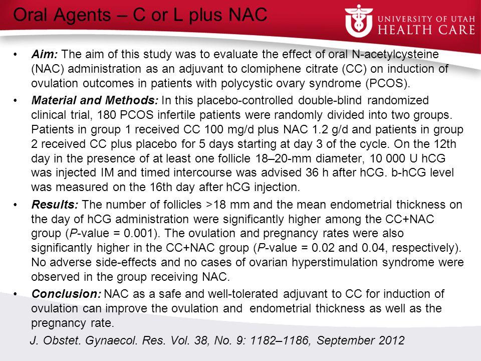 Oral Agents – C or L plus NAC