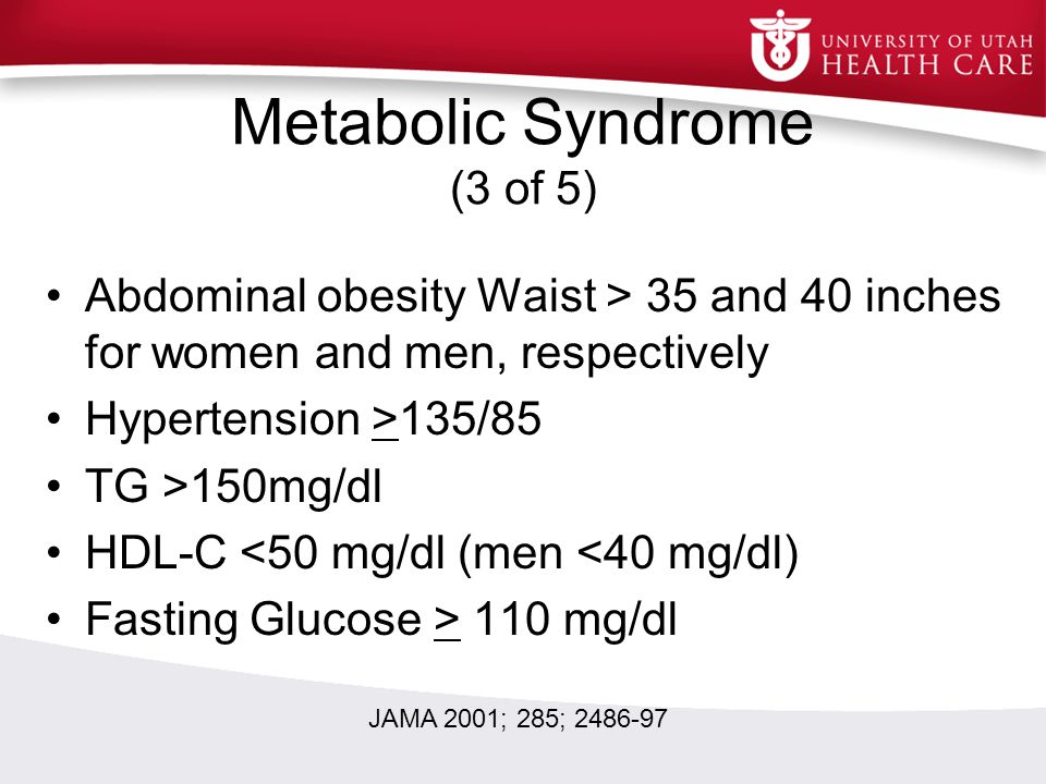 Metabolic Syndrome (3 of 5)