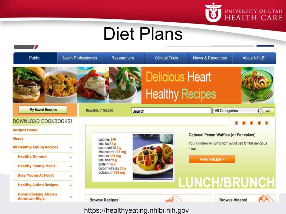 Diet Plans https://healthyeating.nhlbi.nih.gov