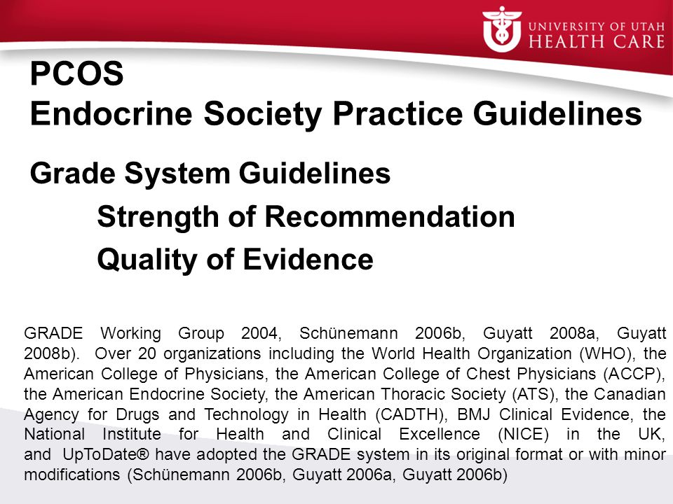 PCOS Endocrine Society Practice Guidelines