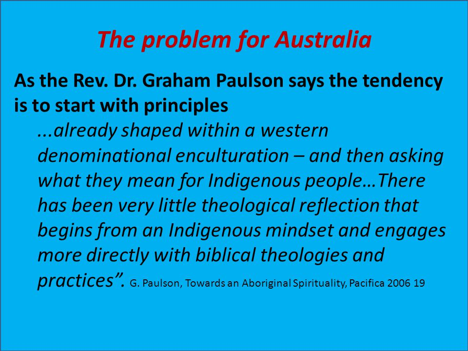 The problem for Australia