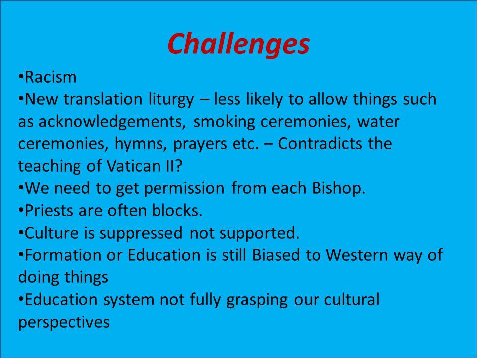 Challenges Racism.