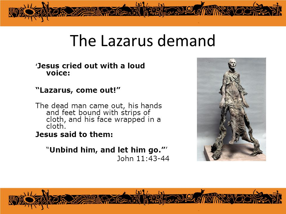 The Lazarus demand 'Jesus cried out with a loud voice: