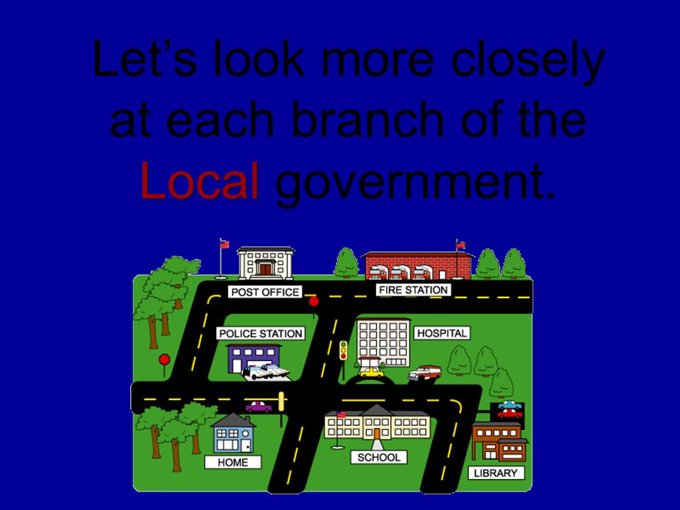 Let's look more closely at each branch of the Local government.
