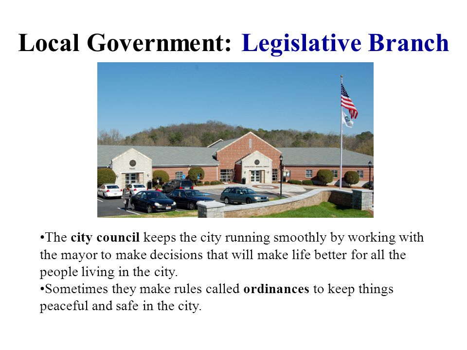 Local Government: Legislative Branch