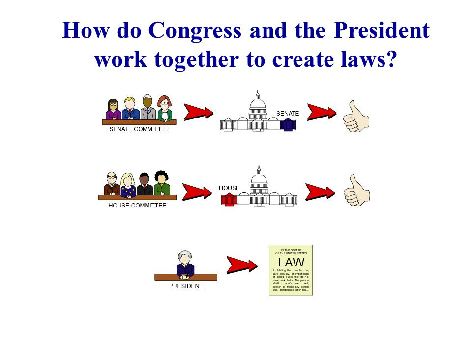How do Congress and the President work together to create laws