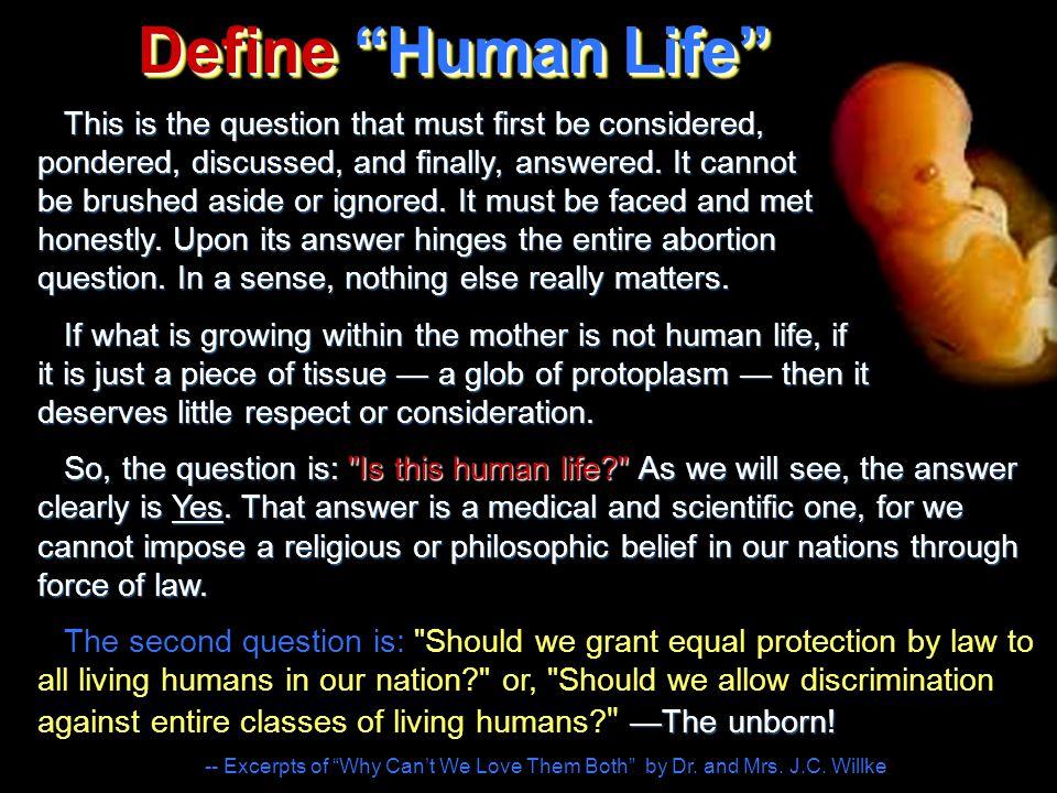 Define Human Life