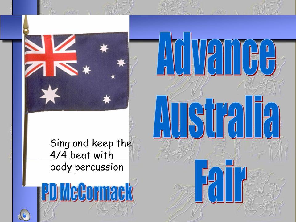 Advance Australia Fair PD McCormack