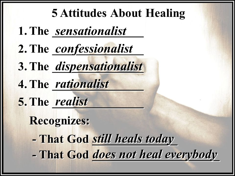5 Attitudes About Healing