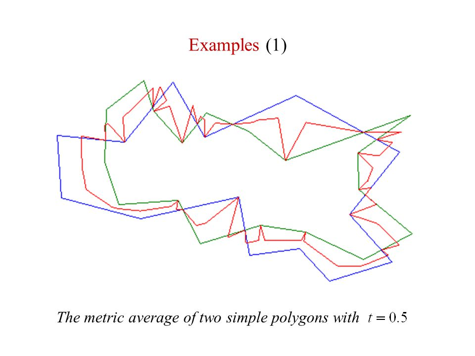 Examples (1) The metric average of two simple polygons with
