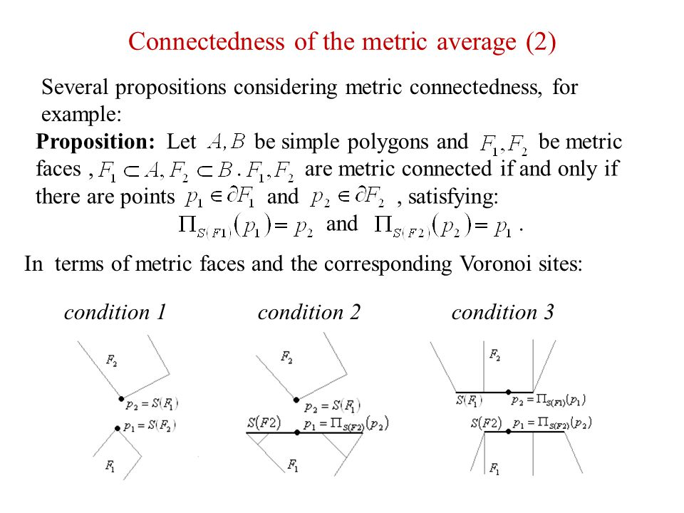 Connectedness of the metric average (2)