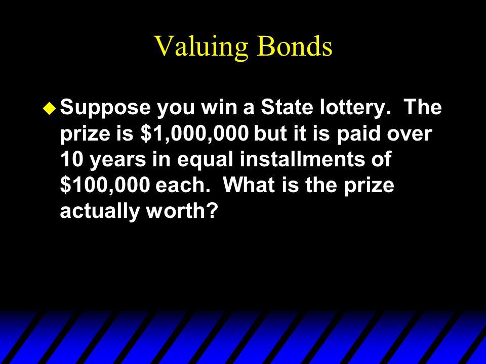 Valuing Bonds