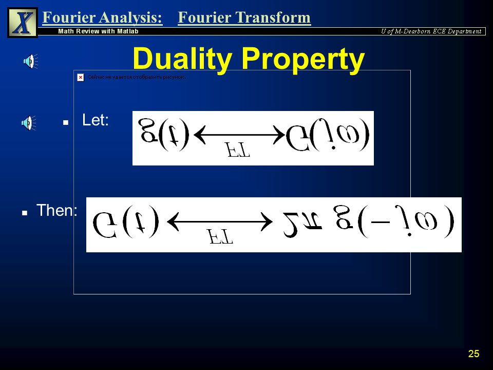 Duality Property Let: Then: