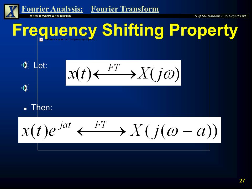 Frequency Shifting Property