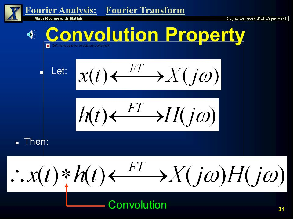 Convolution Property Let: Then: Convolution