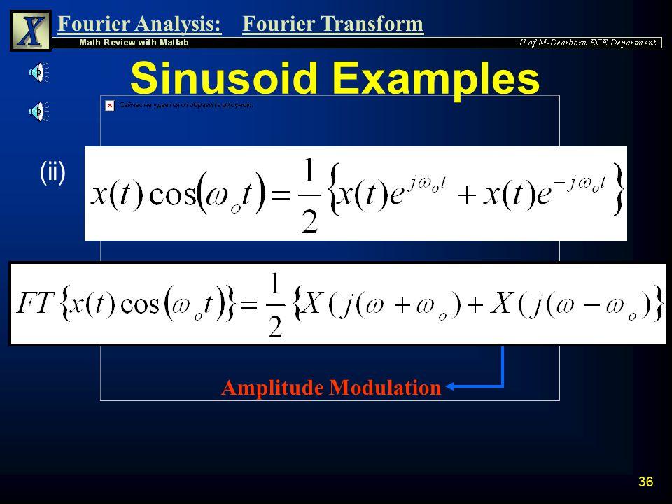Sinusoid Examples (ii) Amplitude Modulation