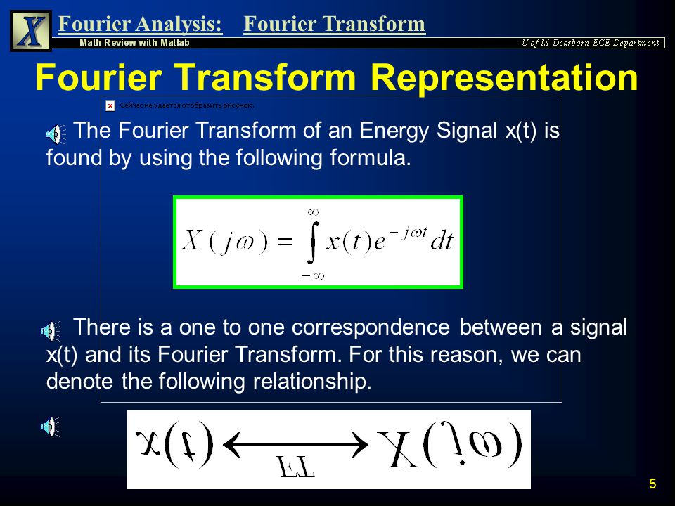 Fourier Transform Representation