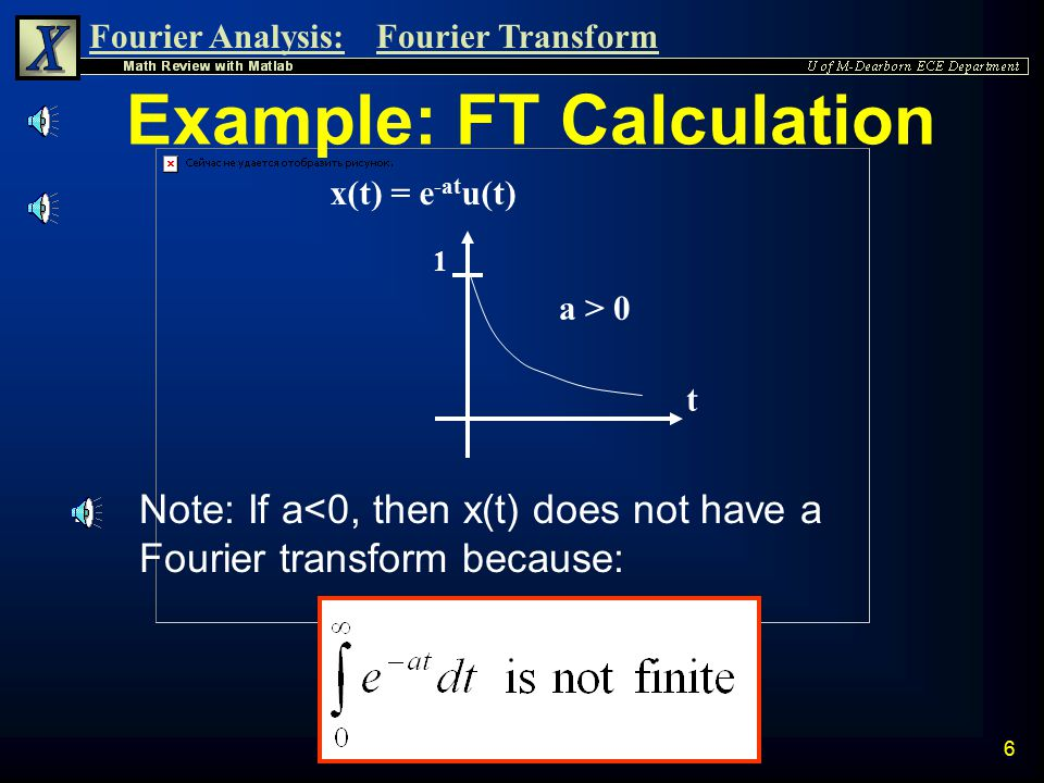 Example: FT Calculation
