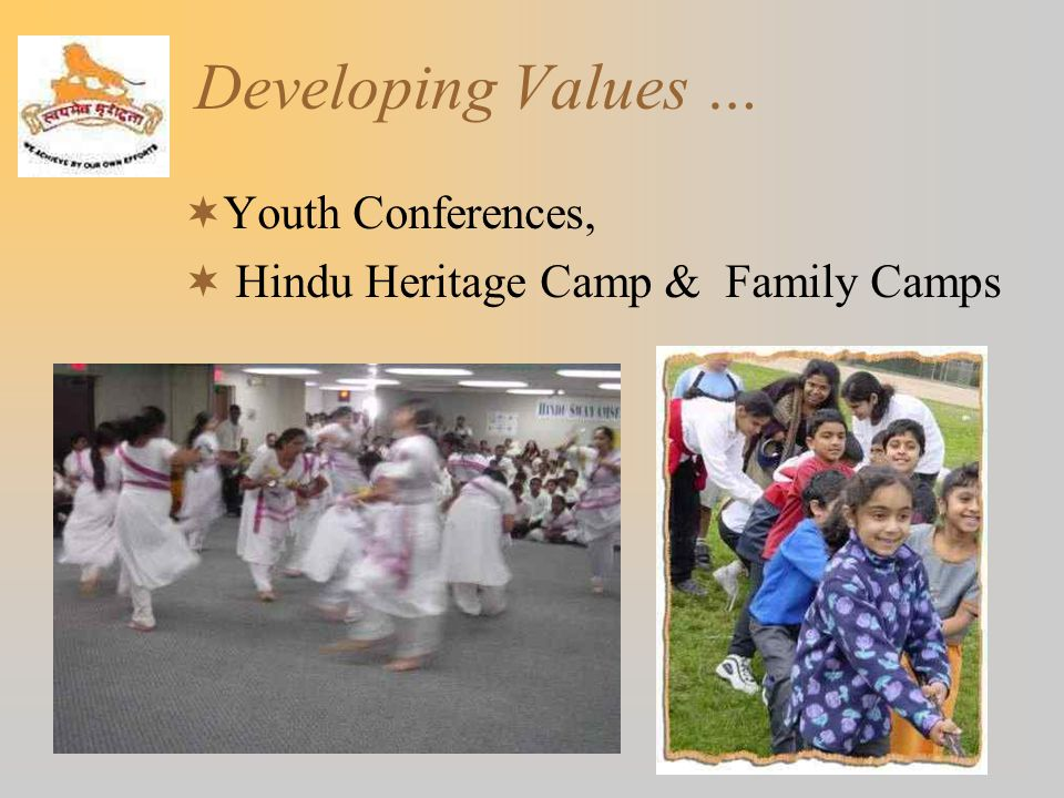 Developing Values … Youth Conferences,