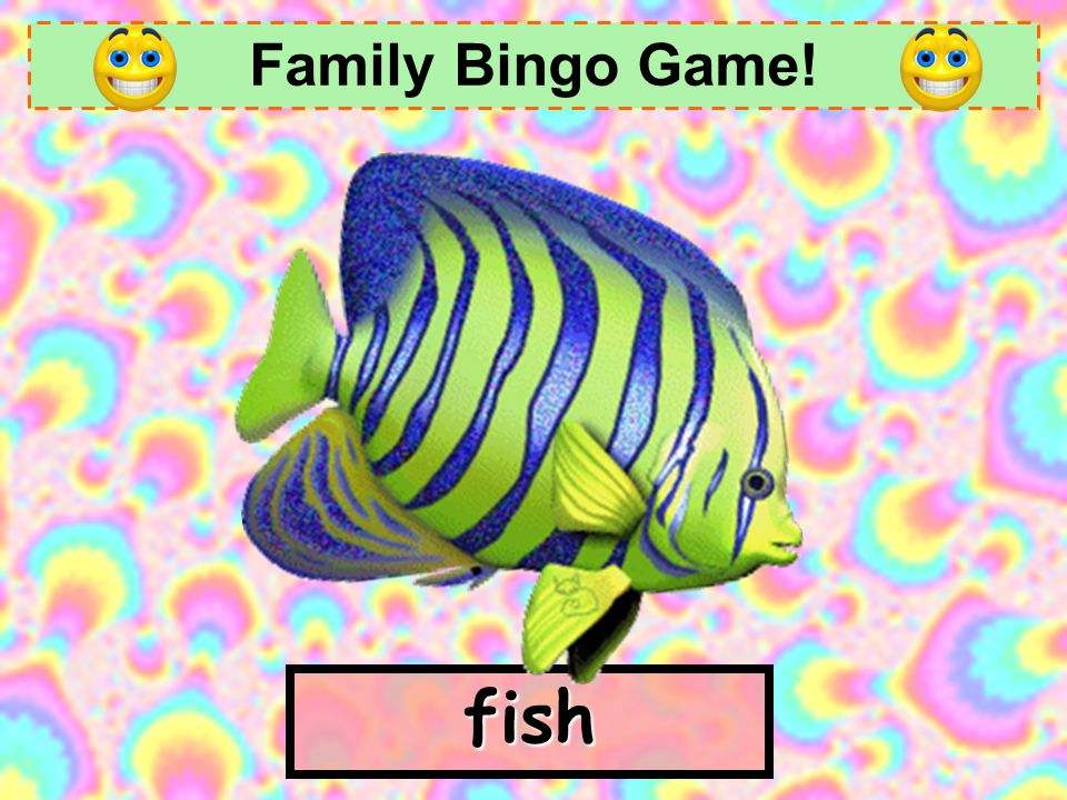 Family Bingo Game! fish