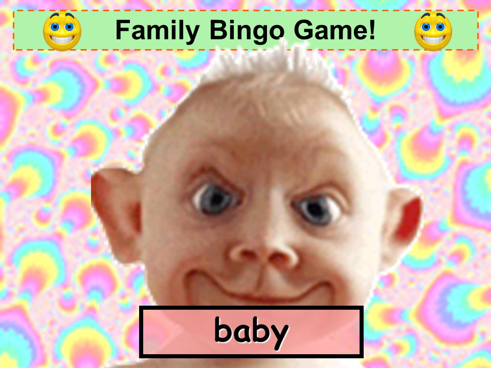 Family Bingo Game! baby