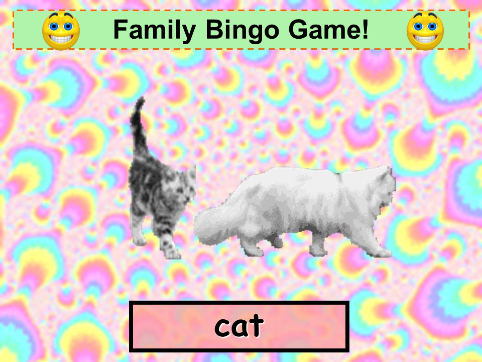Family Bingo Game! cat