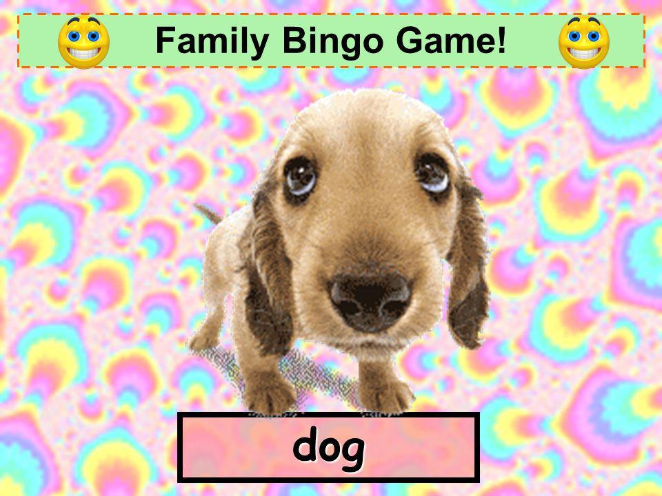 Family Bingo Game! dog