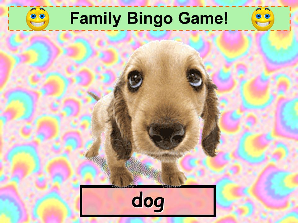 Family Bingo Game! dog