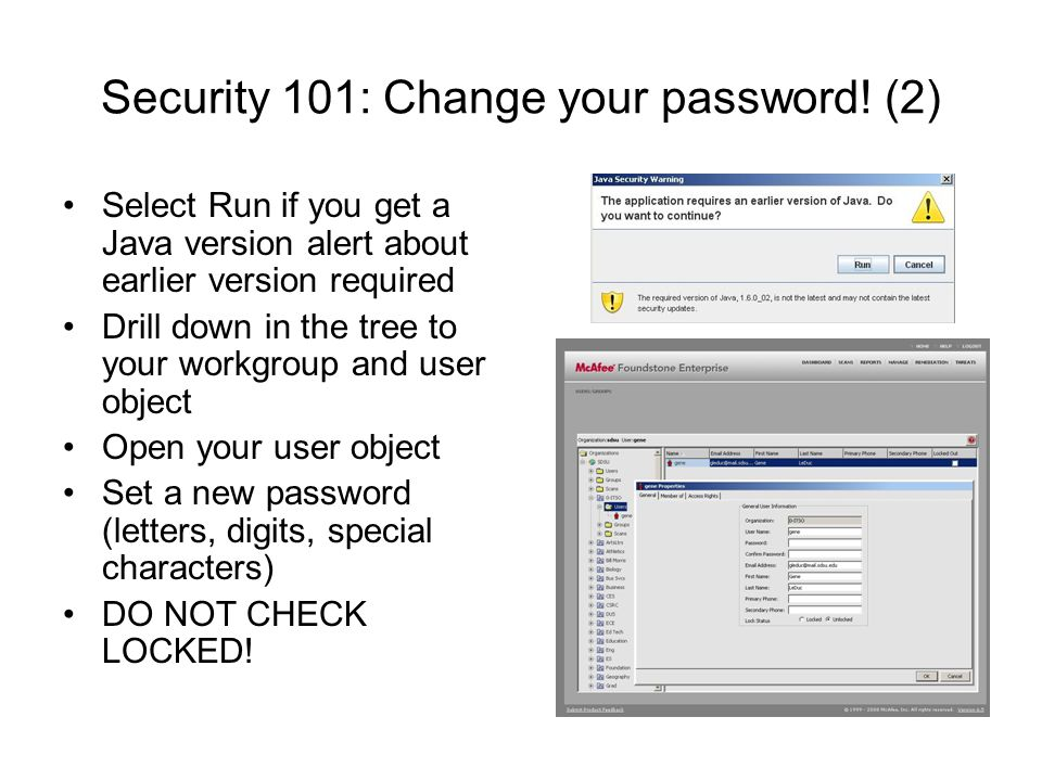 Security 101: Change your password! (2)