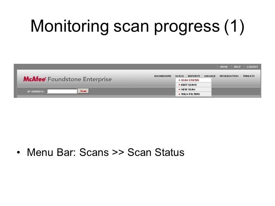 Monitoring scan progress (1)