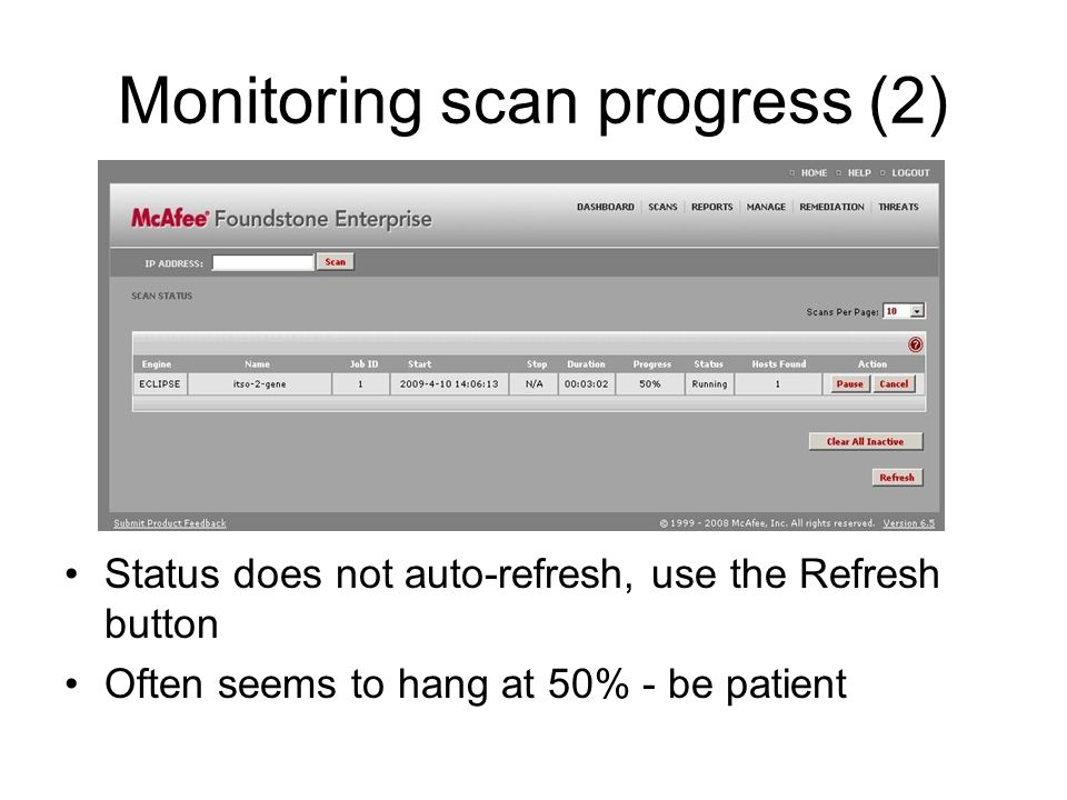 Monitoring scan progress (2)