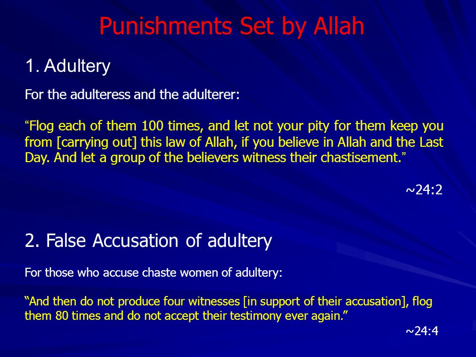 Punishments Set by Allah