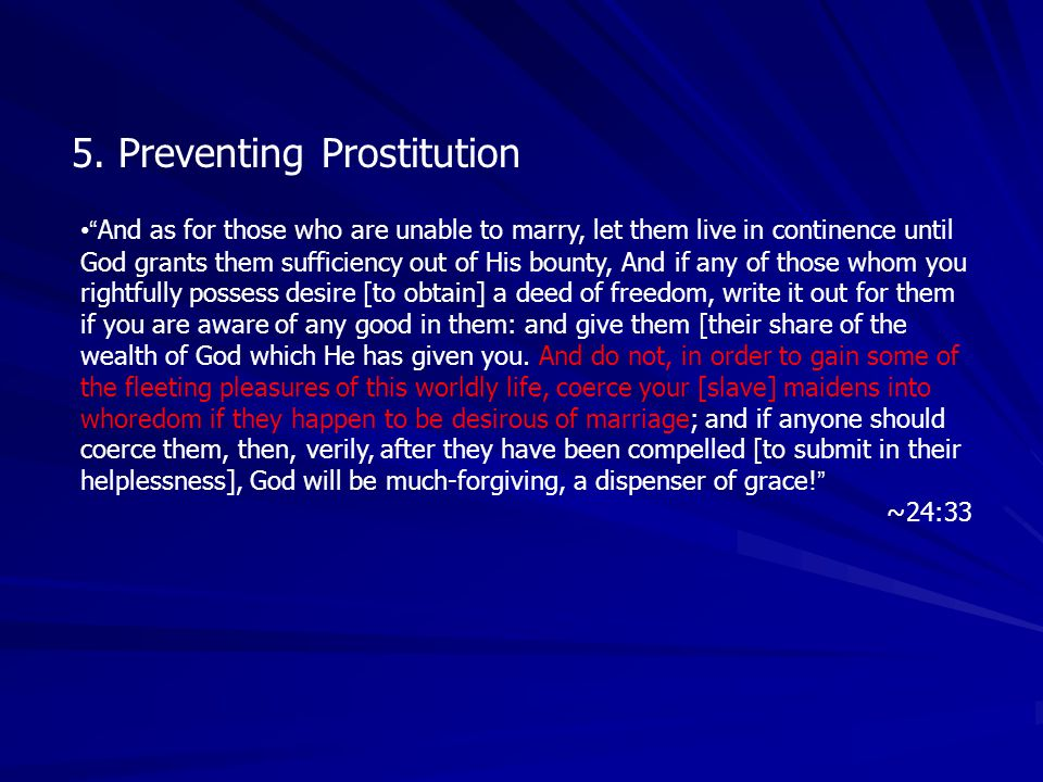 5. Preventing Prostitution