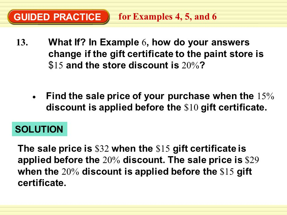 GUIDED PRACTICE for Examples 4, 5, and 6.