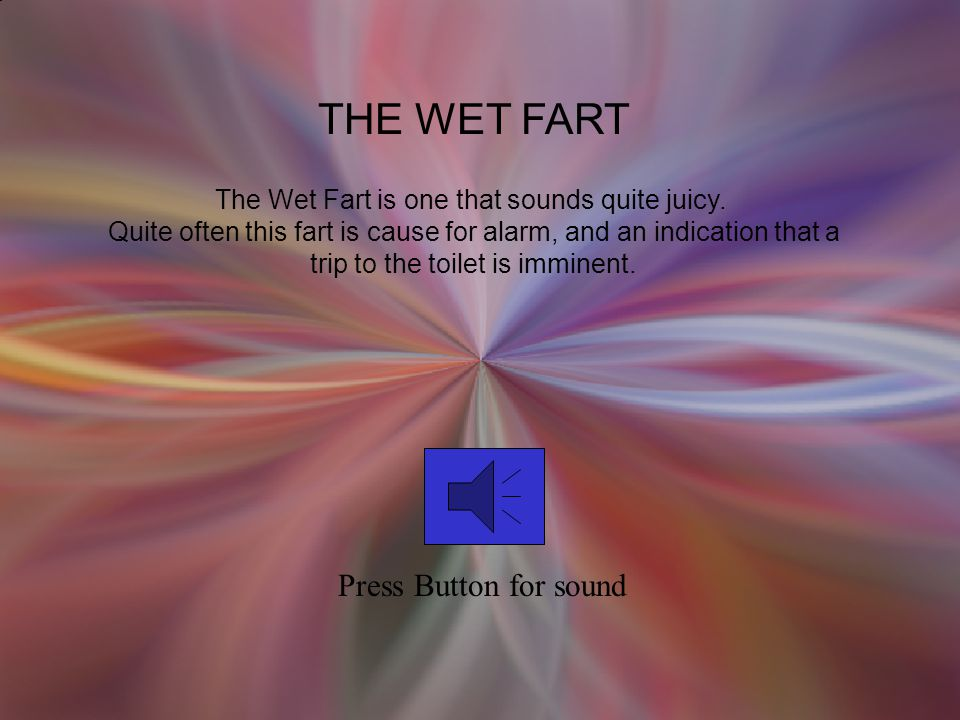 THE WET FART Press Button for sound