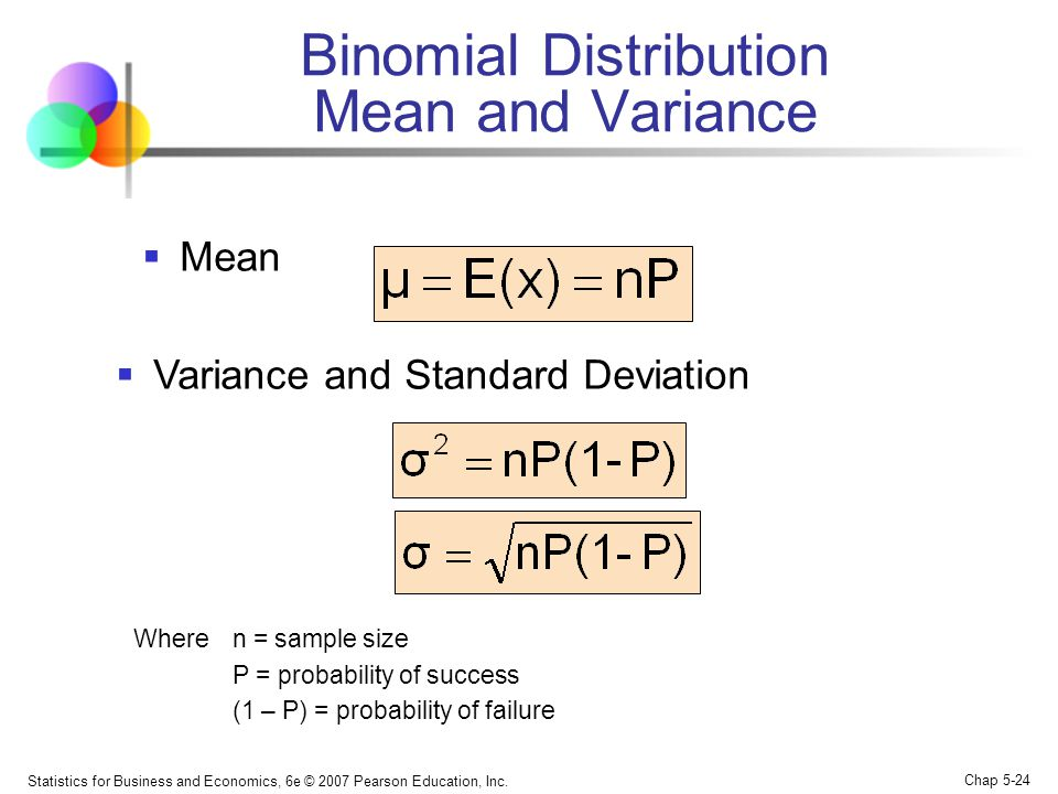 Binomial Distribution Mean and Variance