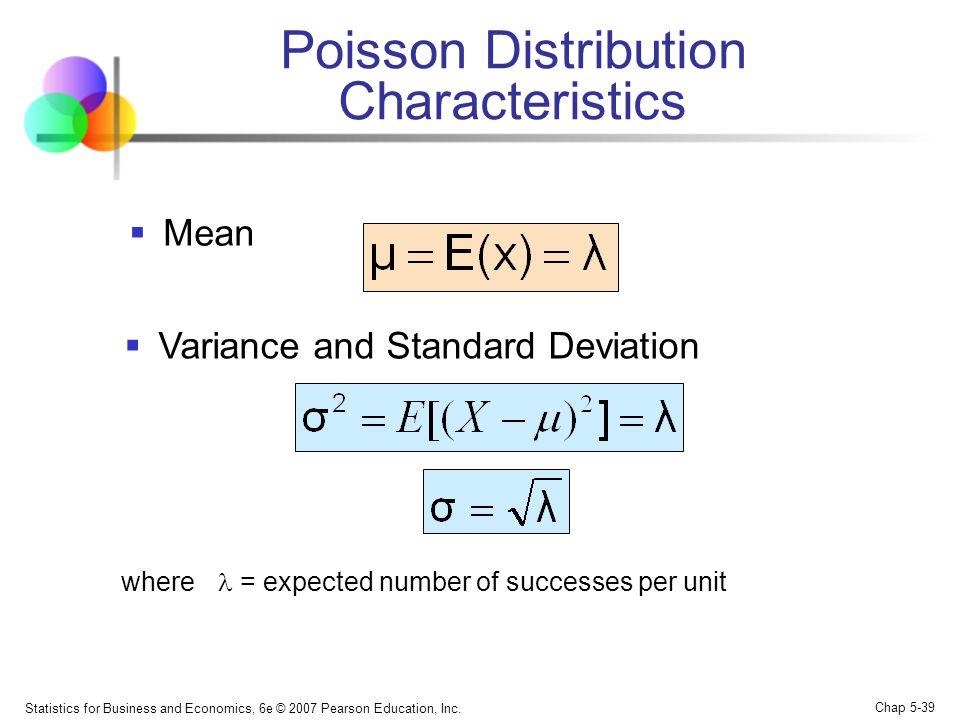 Poisson Distribution Characteristics
