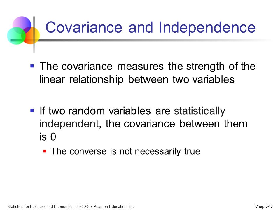 Covariance and Independence