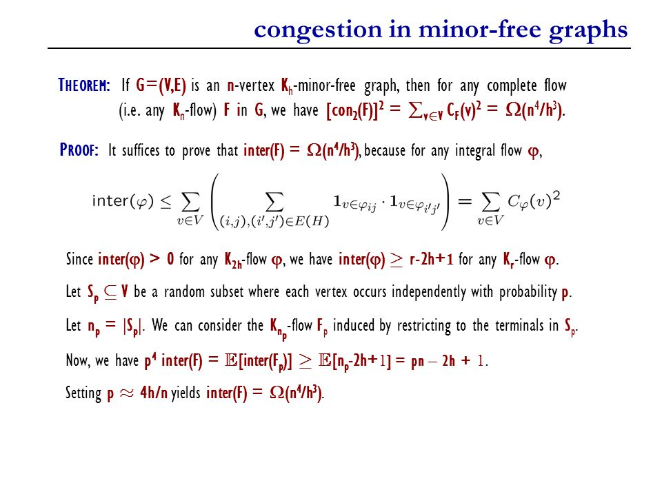 congestion in minor-free graphs