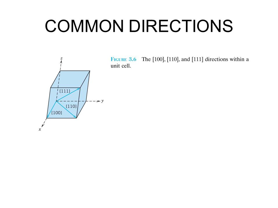 COMMON DIRECTIONS