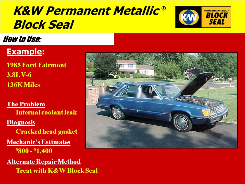 K&W Permanent Metallic ® Block Seal