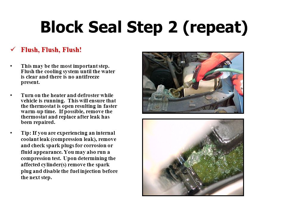 Block Seal Step 2 (repeat)